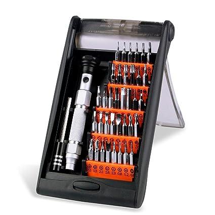 Conjunto de destornillador magnético preciso Sumbay 38 en 1 de aleación de aluminio con 36 puntas para mantenimiento electrónico