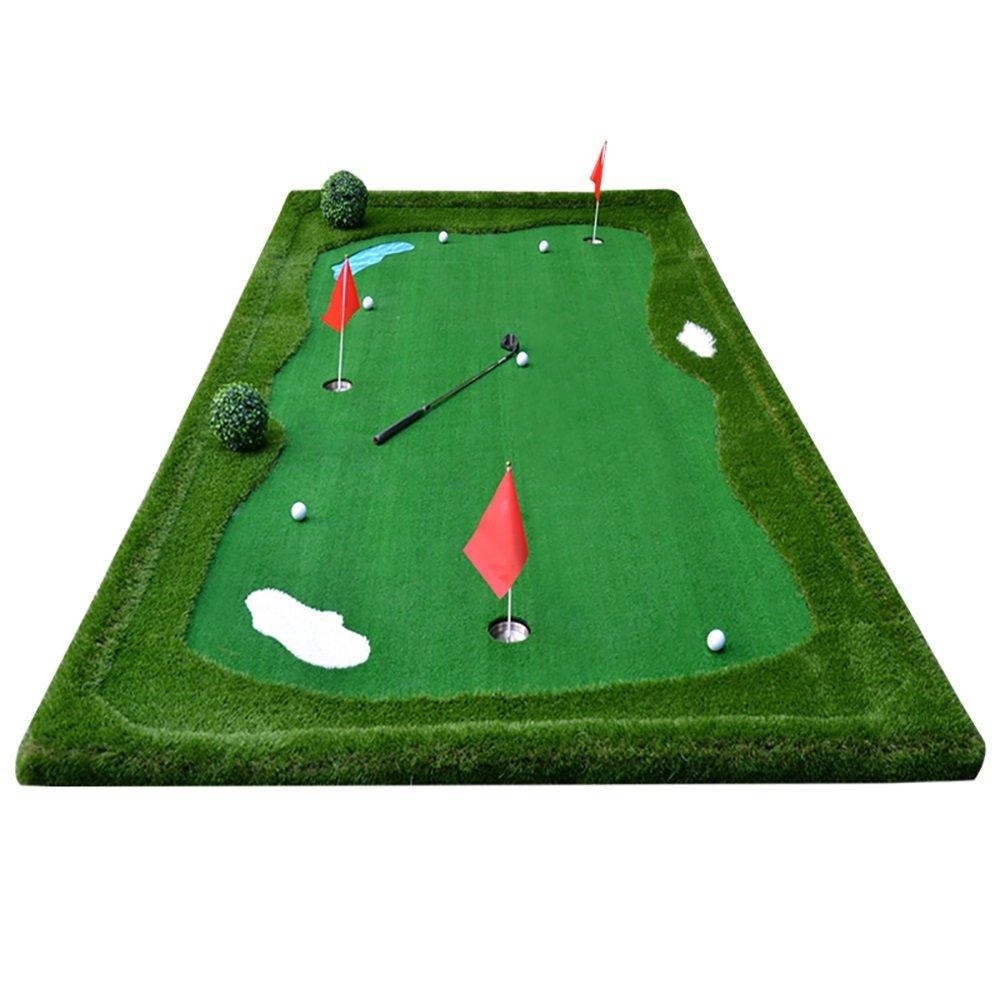 ゴルフパットプラクティスマットフェアウェイエクササイズブランケットインドア/アウトドアロング3.5m/5m B07FNNPJJY  3.5m