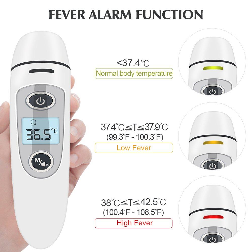Termómetro Digital Frente y Oído, Termómetro Infrarrojos Médico apto Pare Bebé y Adulto con Certifica FDA / CE: Amazon.es: Bebé