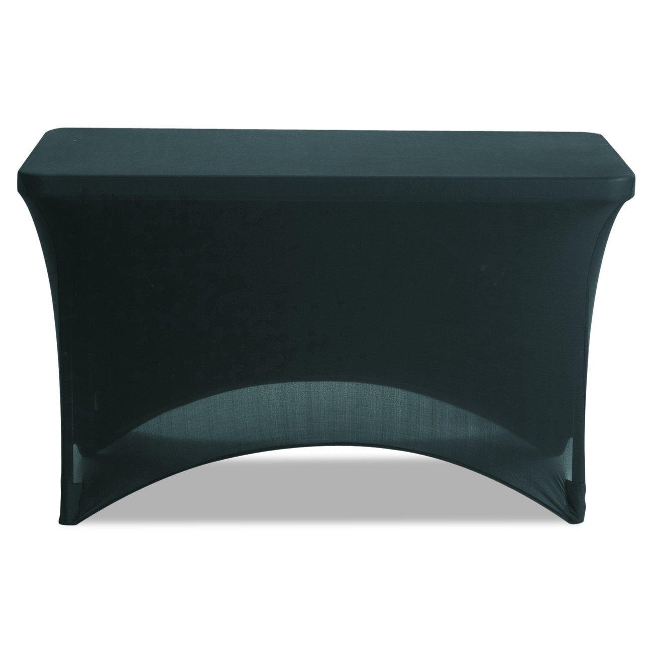 Iceberg Spandex Fabric Table Cover, 4', Black