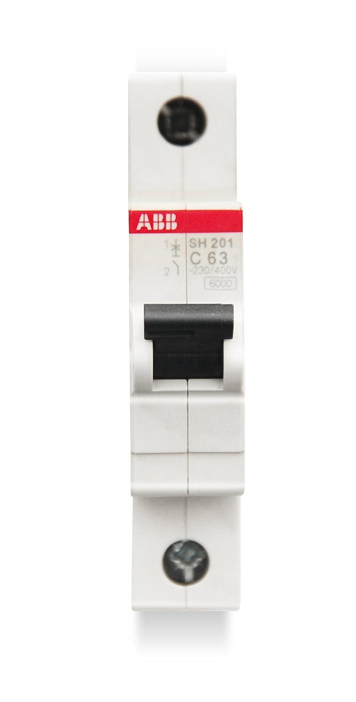 abb-entrelec sh201-c63/ /Leitungsschutzschalter 1-polig 63/A C 6/kA