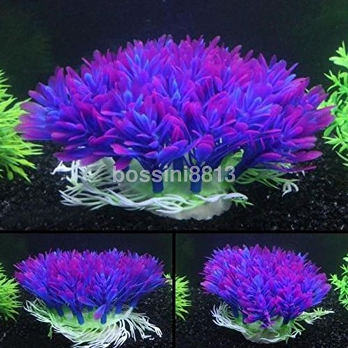 KANG--Plastic Artificial Water Green Grass Plant Aquarium Fish Tank Ornament Decor