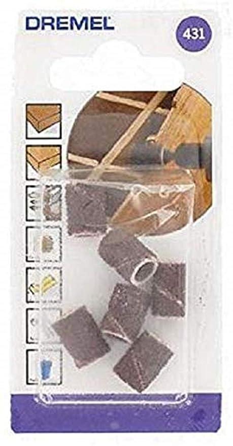 Dremel 431 - Pack de 6 bandas de lijar (6,4 mm, grano 60): Amazon.es: Bricolaje y herramientas