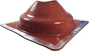 "Dektite Premium #7 Red Silicone Metal Roof Pipe Flashing, High Temp, Square Base, Pipe OD 6"" to 12"""