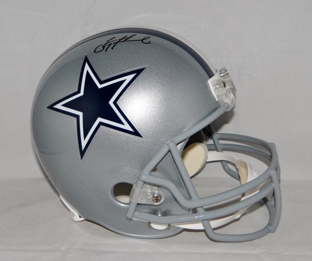 Troy Aikman Autographed Full Size Dallas Cowboys Helmet Beckett Auth Black