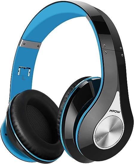 Mpow 059 Cuffie Bluetooth, Cuffie Wireless con Autonomia 25 Ore, Microfono Incorporato e CVC6.0, Fascia MorbidaPieghevole, Riduzione di Rumore