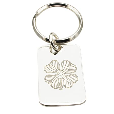 Sterling Silver Engraved DAD Keyring Handmade Products Accessories Rectangular Keychain