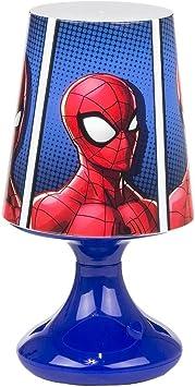 Lampe LED Marvel Spiderman mit Batterie und Taste ONOFF Blau