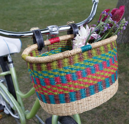 Bolga Bicycle Basket – Fair Trade and Hand Made