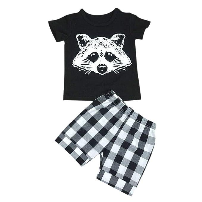 Amazon.com: timall para bebé, Lovely mapache playera Tops ...