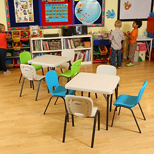 kids folding table lifetime 80425 folding table almond 24 import it all 10118
