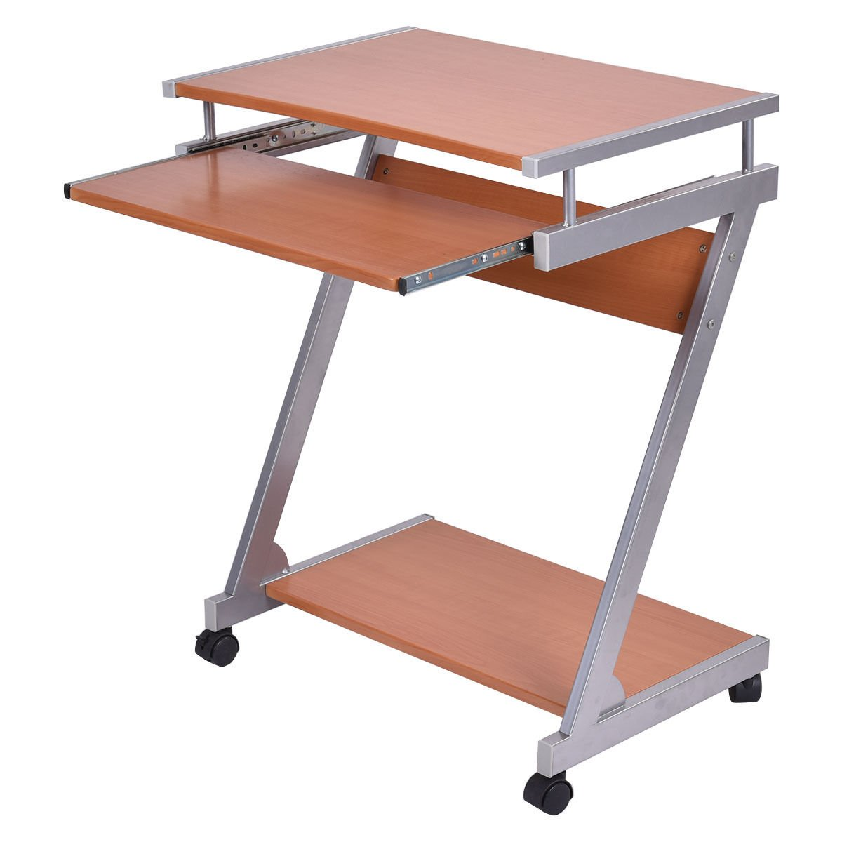Amazon.com: Eight24hours Portable Rolling Computer Desk Laptop Table Work  Station Home Office Furniture   M12: Kitchen U0026 Dining