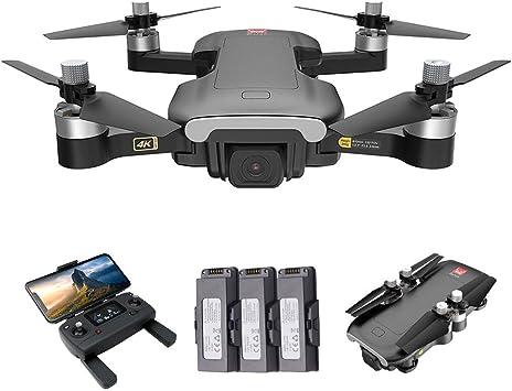 Opinión sobre GoolRC Bugs 7 B7 RC Drone MJX con Cámara 4K 5G WiFi Motor sin Escobillas GPS Posicionamiento de Flujo óptico Pista Vuelo RC Quadcopter (3 Batería)