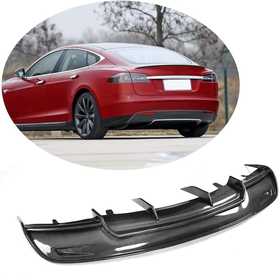2013 2014 2015 Ikon Style 23 x6 Glossy Black ABS Aftermarket Replacement Parts Rear Splitter 5 Fin by IKON MOTORSPORTS Rear Bumper Lip Diffuser Compatible With 2012-2016 Tesla Model S