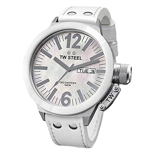 TW Steel Reloj analogico para Mujer de Cuarzo con Correa en Piel CE1037: Amazon.es: Relojes