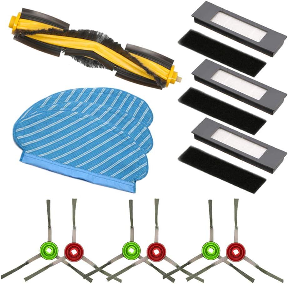 BLUELIRR - Recambio para Ecovacs Deebot OZMO 950 (6 cepillos ...