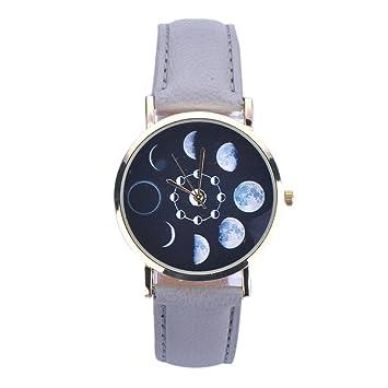 Xinantime Relojes Pulsera Mujer,Xinan Cuero Lunar Analógico Reloj de Cuarzo (Gris): Amazon.es: Deportes y aire libre