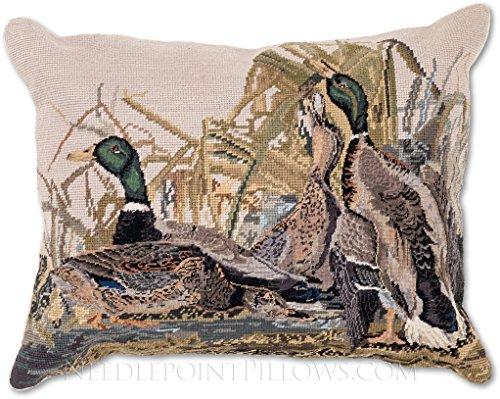 Needlepoint Pillows Birds - 1