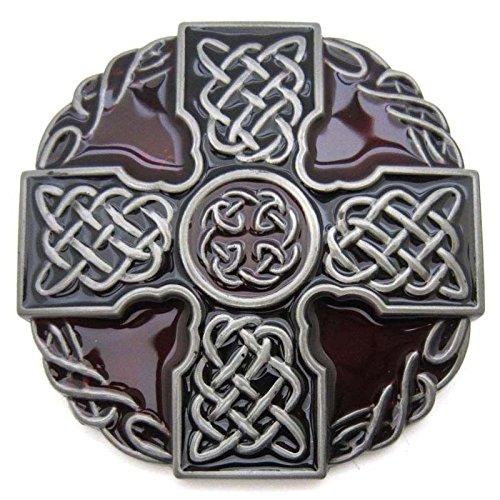 Celtic Cross Rope Knotwork Vintage Horseman Prayer Celtic Iron Cross Skull Cowboy Lot Leather Belt Buckle