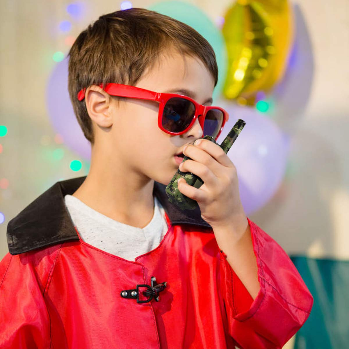 Kids Walkie Talkies, UOKOO Walkie Talkies for Kids 22 Channel FRS/GMRS Two Way Radio Up to 3KM UHF Handheld Walkie Talkies, Toys for 5-year old Boys, Gifts for 7-year Old Boys and Girls by UOKOO (Image #5)