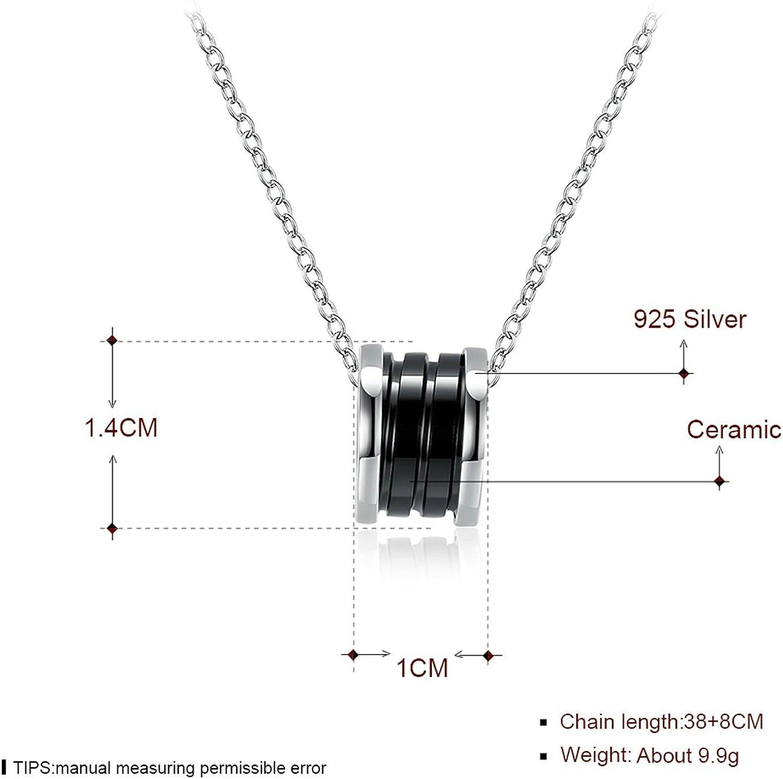 Gnzoe Jewelry Ceramics Women Necklace Heart Hollow Black Friendship Chain 40+4CM