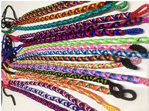 Friendship Bracelets MIX Design Twist Handmade Wholesale LOT 100 MIX From Peru