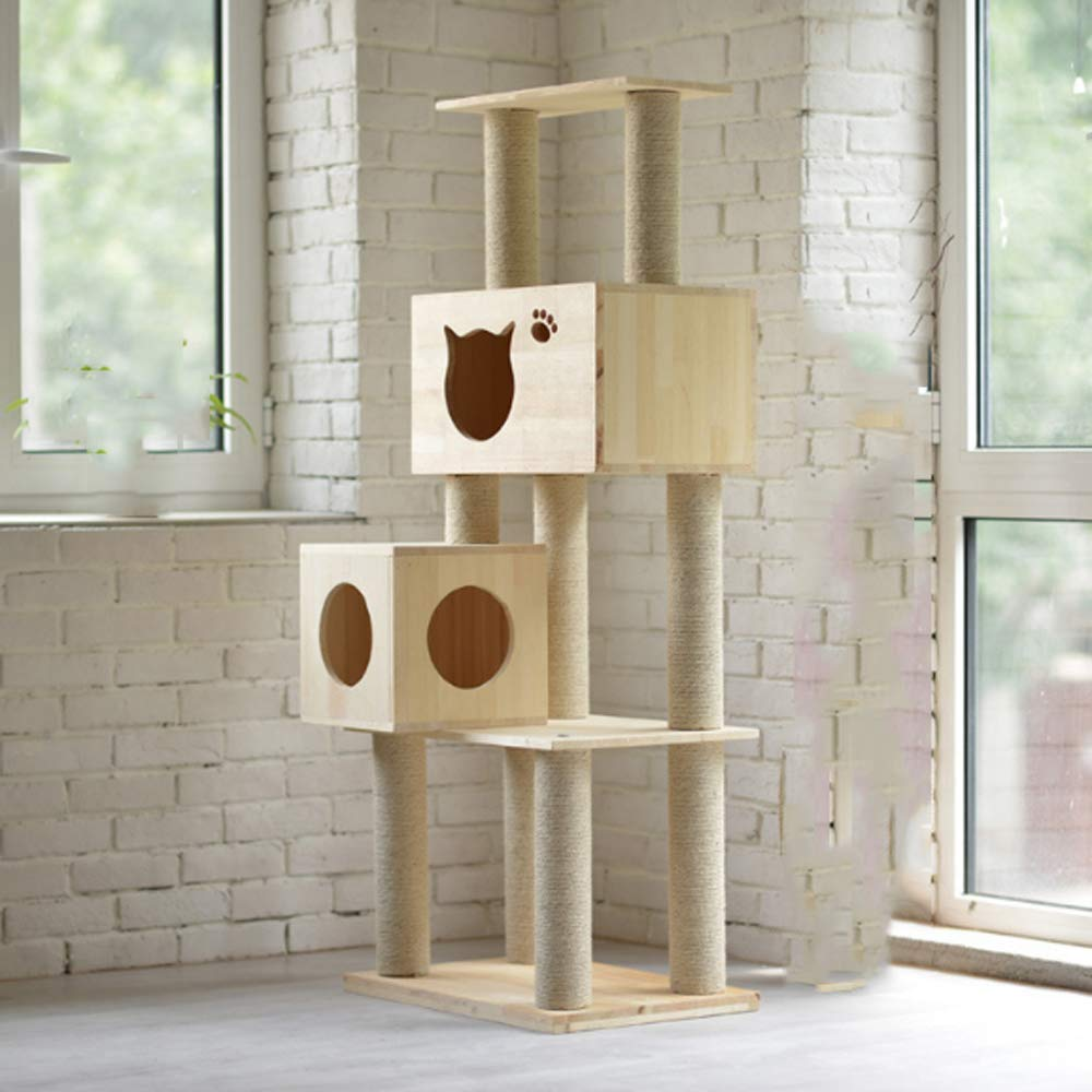 Weiwei Cat Climb tree wood cat climb frame cat nest cat pine cat Nest 40cm 60cm  150cm