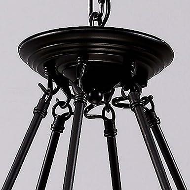 Cuerda de cáñamo industrial lámpara de techo, sol Run ...