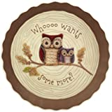 Crimson Hollow Owl Pie Plate By Grasslands Road