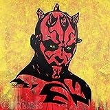 MR.BABES - ''Star Wars: Darth Maul'' - Original Pop Art Painting - Movie Portrait