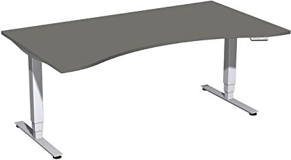 Eléctrico de HUB mesa, altura regulable, 180 x 100 cm, grafito ...