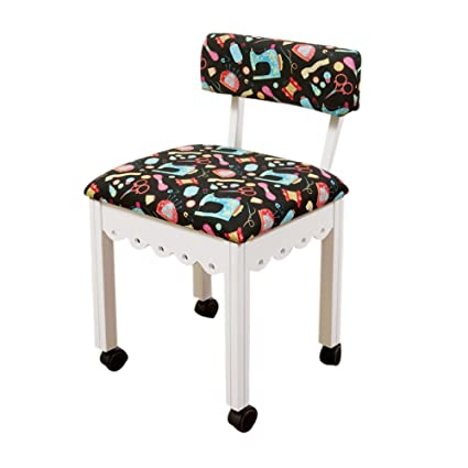 Arrow Sewing Cabinet Craft Room Furniture Wood Fabric Chair White Black  Background By Arrow Sewing Cabinet