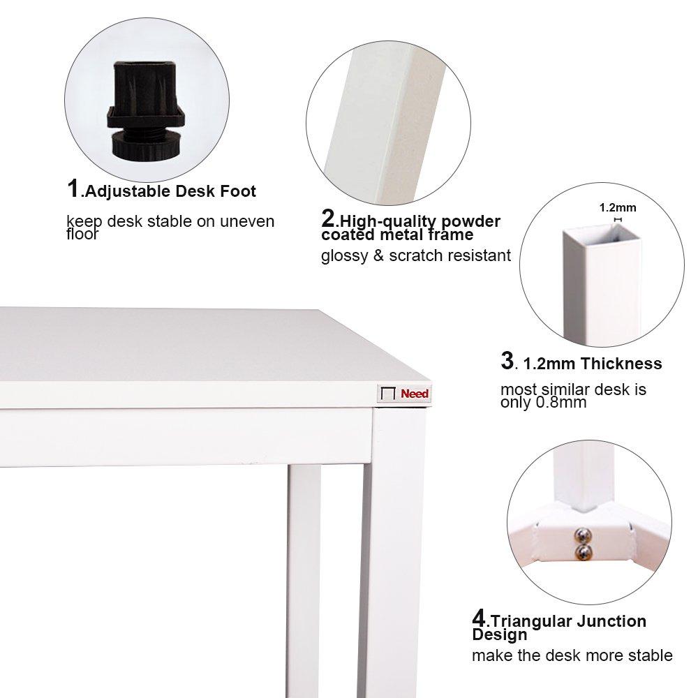 Esstisch Konferenztisch,AC3DW-140-SH NeedHome Computer Schreibtisch 138 x 55 x 75 cm PC Schreibtisch B/üro Schreibtisch Workstation f/ür Home Office Verwenden Schreibtisch