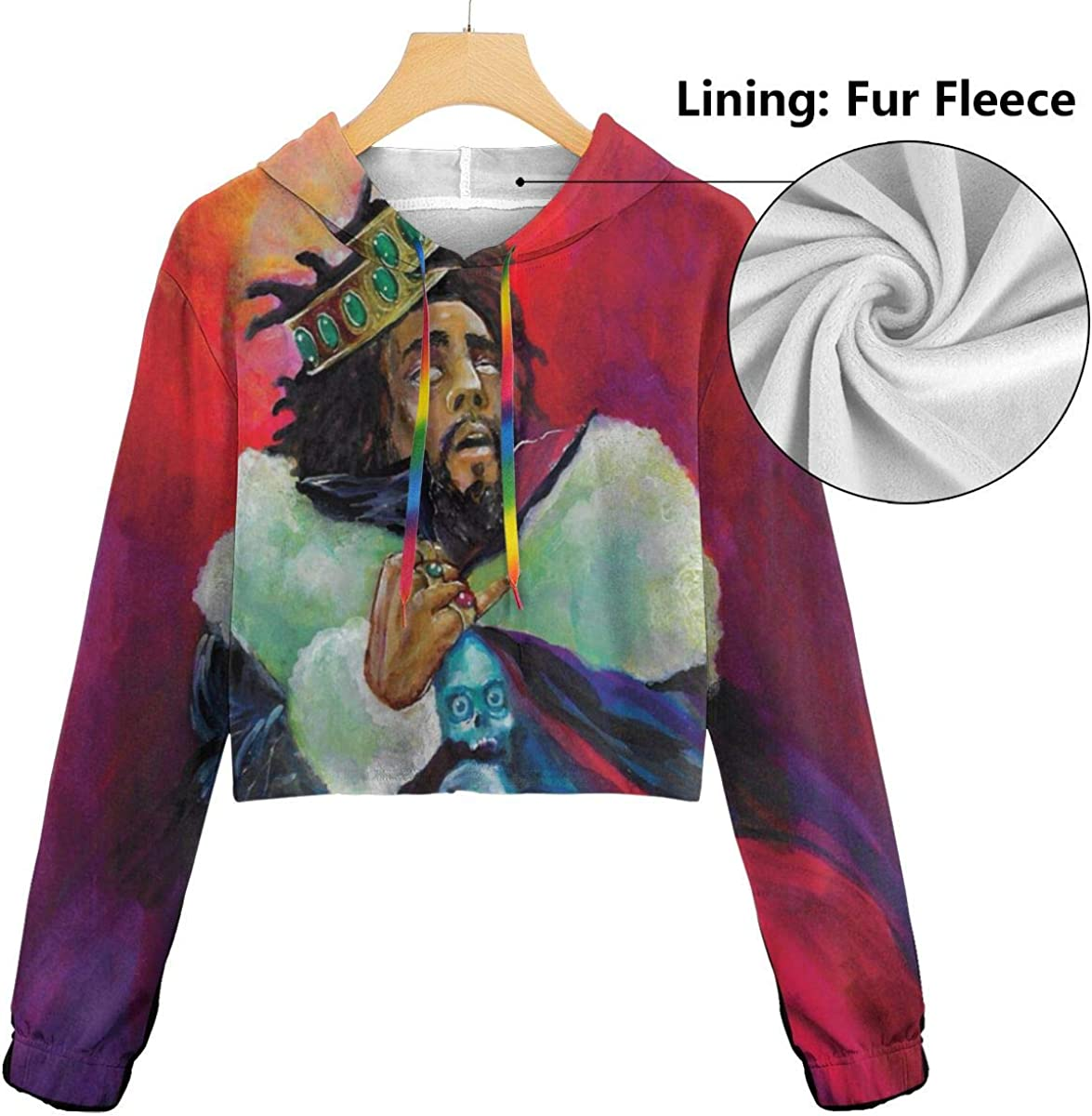 KegamiMisa J Cole KOD Women Music Dew Navel Cropped Sweatshirts
