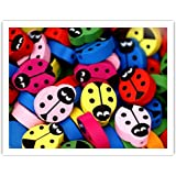 *HUGE BEADS SALE!* 15pcs x Wooden LADYBIRD Beads + *FREE! Beading Elastic Thread* ~ Great Holiday Craft Activities for Children