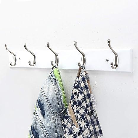 Tanya Double Prong Coat Towel Hooks 6-Pack Rustic Hooks Zinc Alloy Coat Hooks Cloths Hanging Hooks