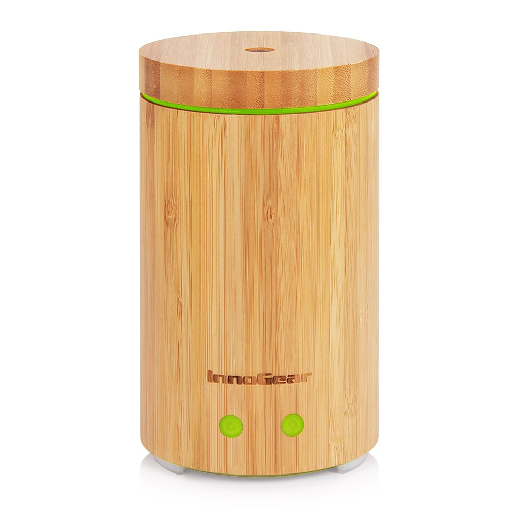 InnoGear Real Bamboo Essential Oil Diffuser with Waterless Auto Shut-off OD16