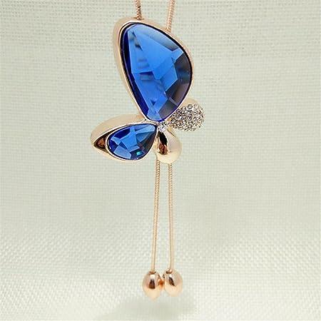 719cadd06974f7 Elistelle Women Crystal Butterfly Tassel Pendant Statement Long Chain  Necklace: Amazon.co.uk: DIY & Tools