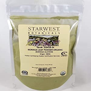 Organic Moringa Leaf Powder - Moringa Oleifera - 4oz bag