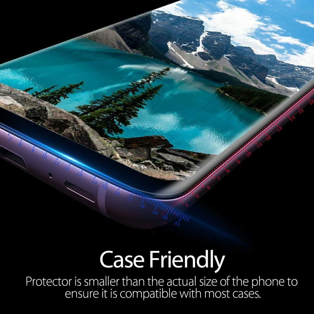 9H Tempered Glass Include a Camera Lens Protector,Ultrasonic Fingerprint Compatible,HD Clear,3D Curved for Samsung S10 Glass Screen Protector 2-Pack Galaxy S10 Screen Protector,