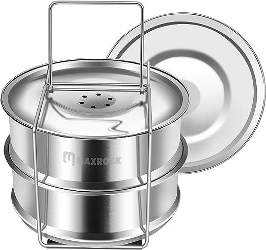 Egg Rack Sensible Needs STEAM-STANDARD Safety Tool 100/% Stainless Steel Steamer Insert for Instant Pot Standard Vegetable Steamer Basket Set Pressure Cooker /& Instant Pot Accessories Pot in Pot