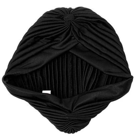 Yingwei Elasticity Scarf Hat India Cap Winter Warm Beanie (Black) at ... 75f5124699b