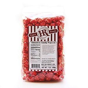 HR Poppin' Snacks Cinnamon Popcorn - Made in USA - Made in Nebraska - Nebraska popcorn - Produced in Gibbon, Nebraska