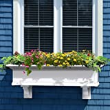 Mayne Yorkshire II 48'' Window Box Combo with Corbel Brackets White 4'