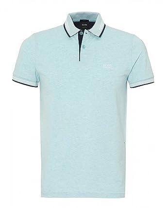 a79e2918e BOSS Athleisure Mens Paul Slim Fit Tipped Polo Shirt XL Sky Blue Melange:  Amazon.co.uk: Clothing