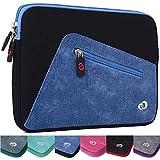 Black/Riverside Blue Denim Ainol-novo Cube Talk 9X U65GT,Onda V919 3G Air 9-Inch Tablet Neoprene Case Sleeve with Front Pocket [Limited Edition]