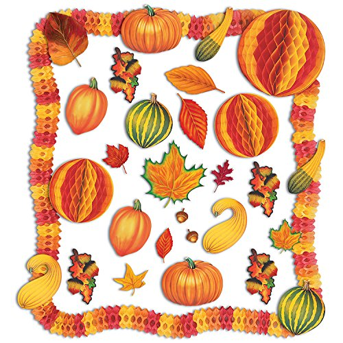 28 Piece Decorating Kit - Beistle 1-Pack 28-Piece Decorative Fall Decorating Kit