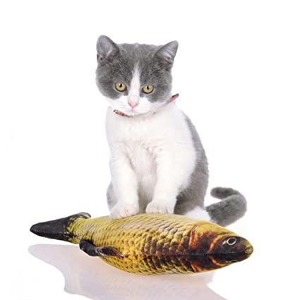 Fashion New Pet Cat Kitten Chewing Cat Toys 20cm 30cm 40cm Stuffed Fish Mint Pet Interactive Cat Gift Pet Products