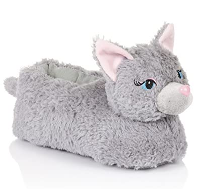 f70da10af12b Loungeable 64504 Womens Cat Slippers - Cat - Large  Amazon.co.uk  Clothing