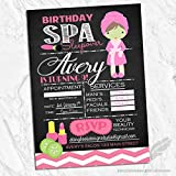 Spa Birthday Invitations (Set of 10) Envelopes Included Personalized